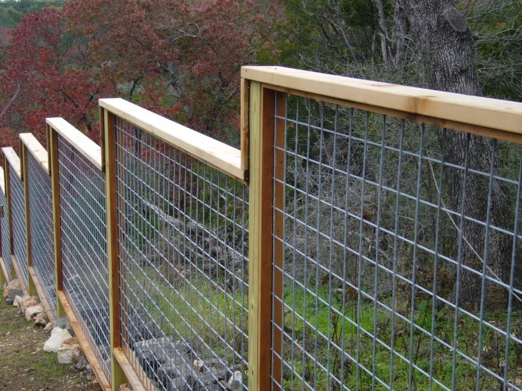 Diy Wood And Wire Fence - DIY Design Ideas